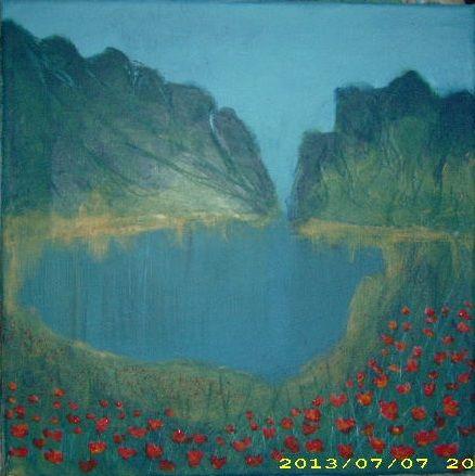 Landskab i akryl