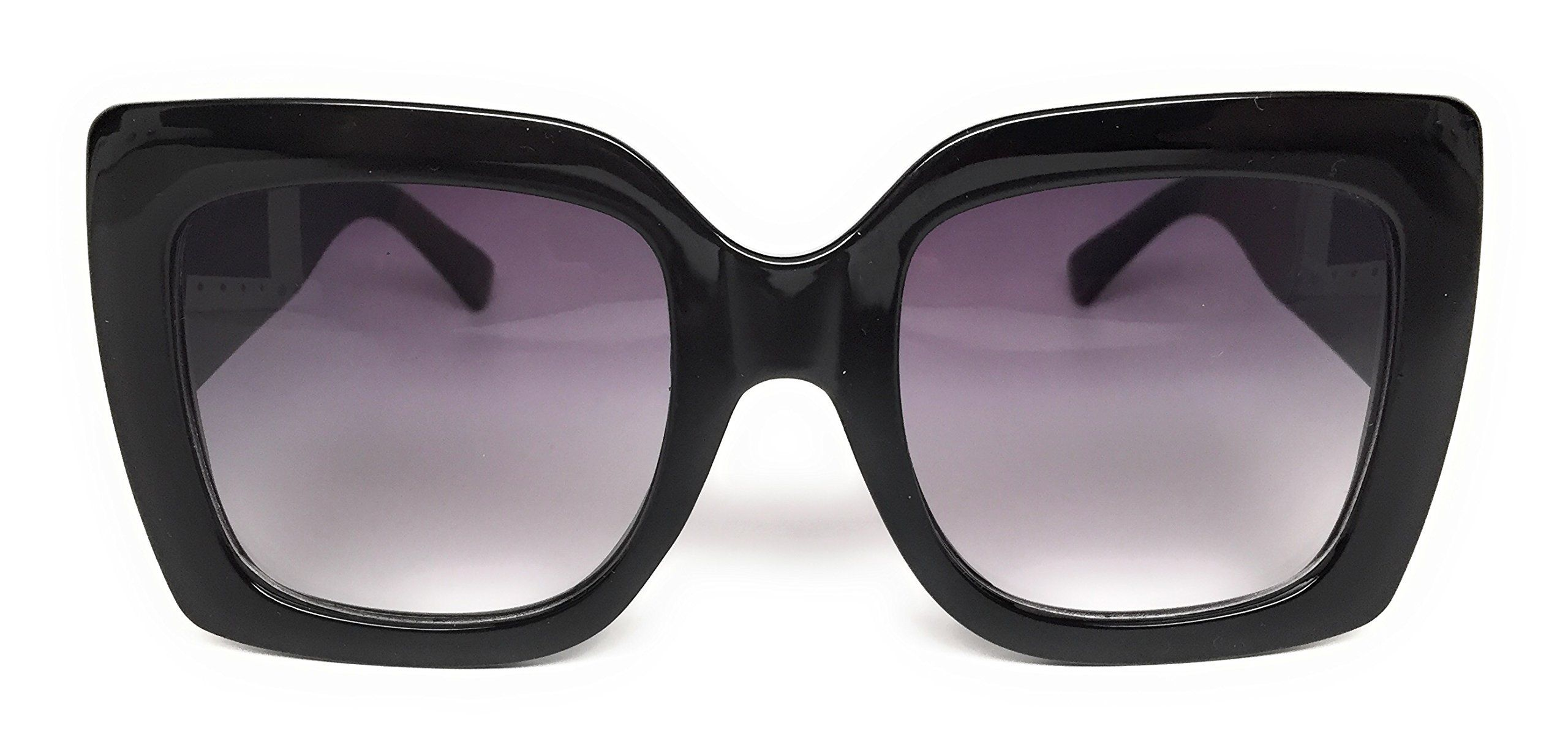 e39d4fe0fe My Shades(TM) - Designer Inspired Oversize Glitter Sparkle Square Frame  Sunglasses (Black Solid   Purple Gradient)  affiliate  glitter  gucci   sunglasses