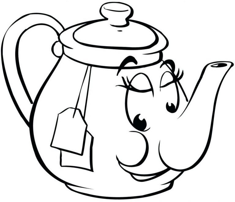 Teapot Coloring Page Cartoon 101 Worksheets Heart Coloring Pages Printable Coloring Pages Coloring Pages