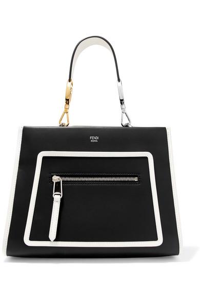 339b37e82 Fendi - Runaway small two-tone leather tote in 2019 | SPRING 19 ...