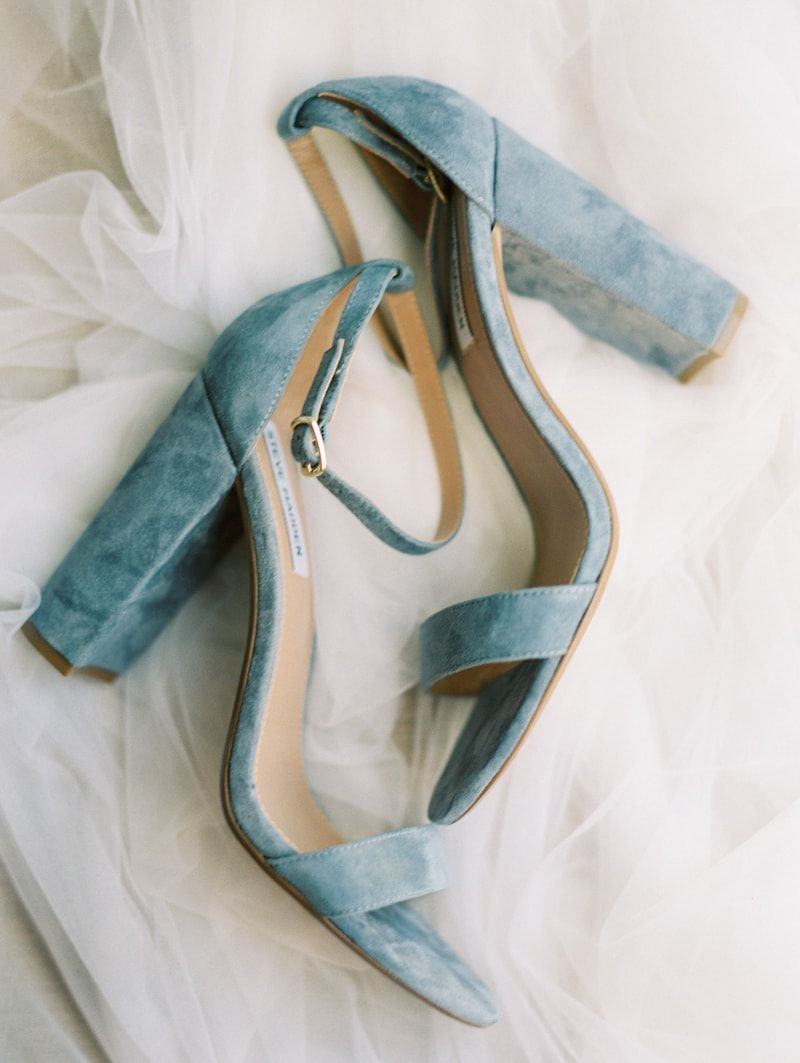 Velvet heels from whooping crane farm wedding inspiration