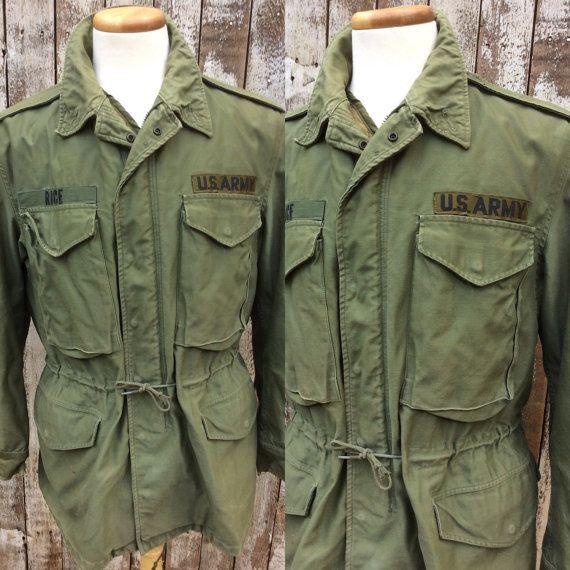 Vintage Military Field Jacket Vintage Army by