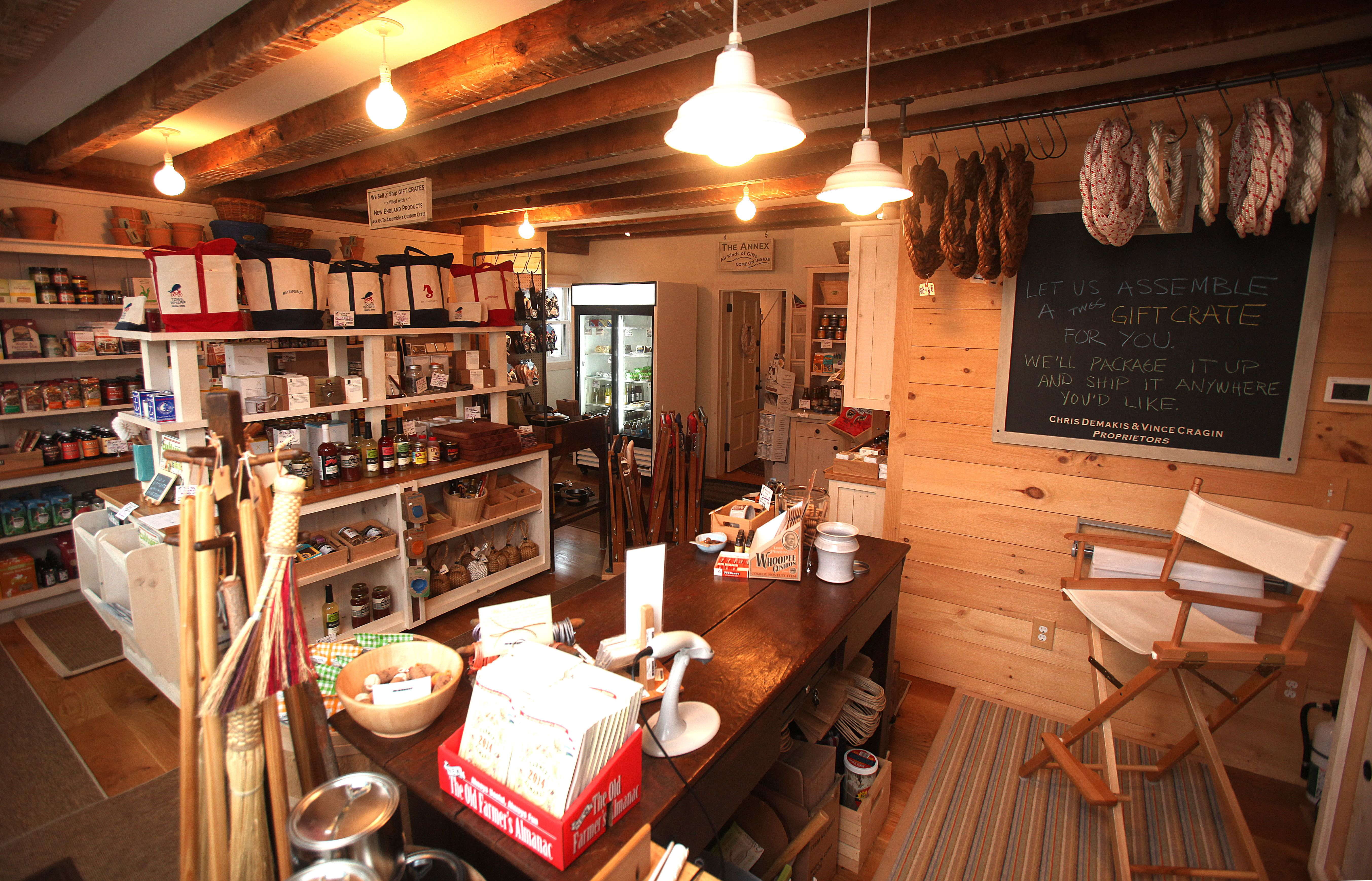 New England shaker chic over at Short Stack stockist Town Wharf General Store in Mattapoisett, MA.