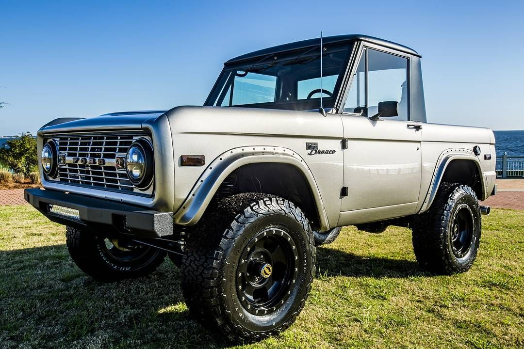 Just Finished This 1967 Ford Bronco Half Cab Frame Off Restoration Complete With Coyote Engine Swap Velocityr Classic Ford Broncos Ford Bronco Classic Bronco