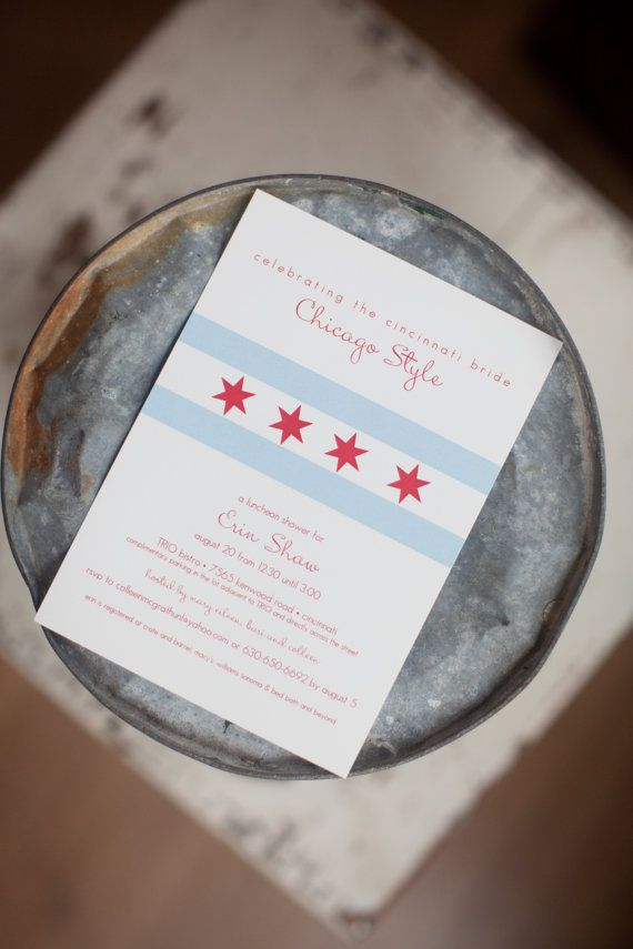 chicago bridal shower invitation flowers invitations and other