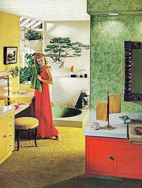 1970 Bathroom | Vintage ~ Retro | Vintage home decor, Home ...