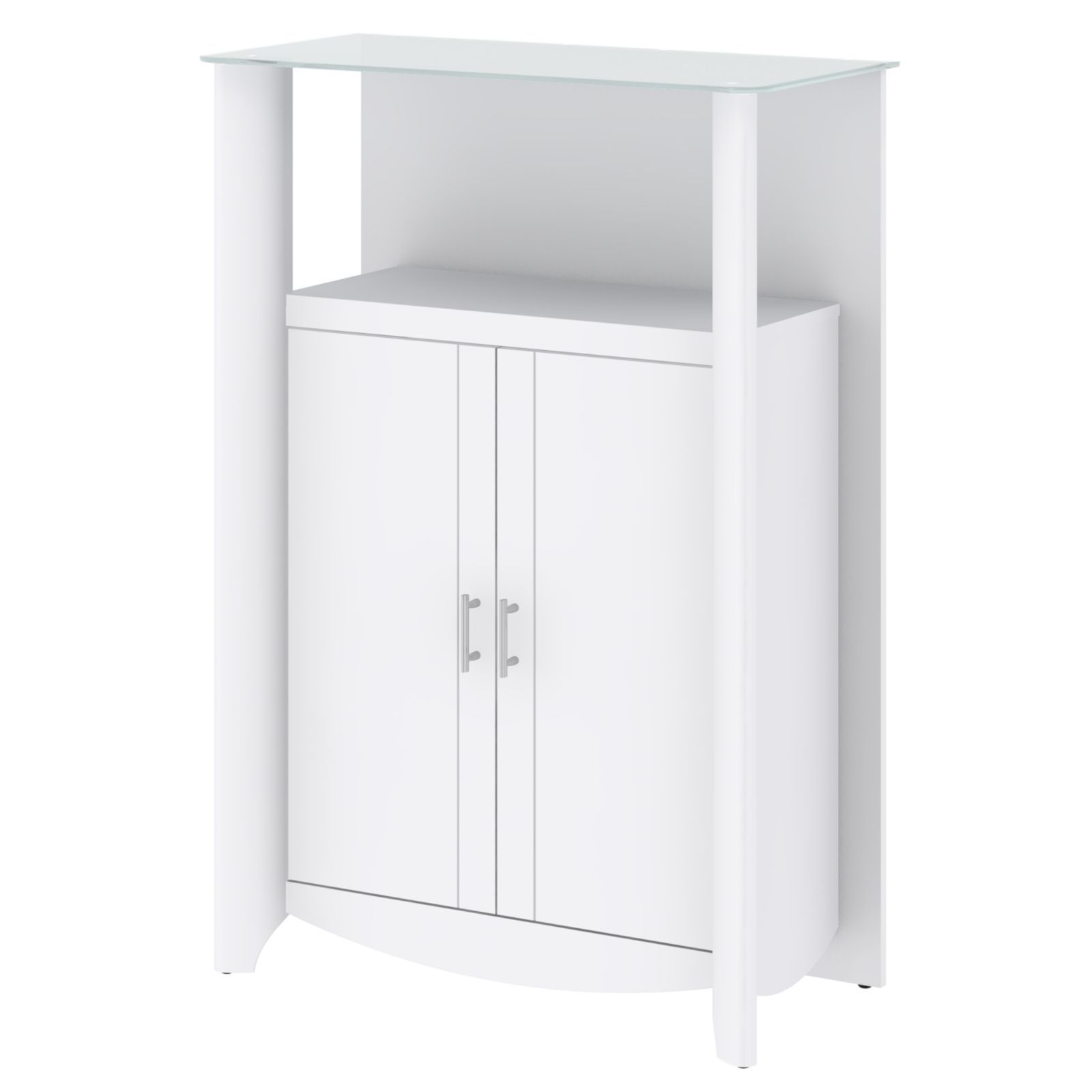 Bush Furniture 'Aero' Top 2-door Curio Bookcase