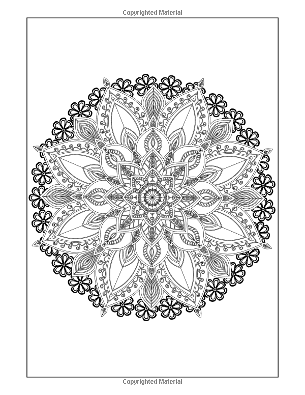 Amazon Coloring Books For Grown Ups Flowers Mandala Coloring Book Intricate Mandala