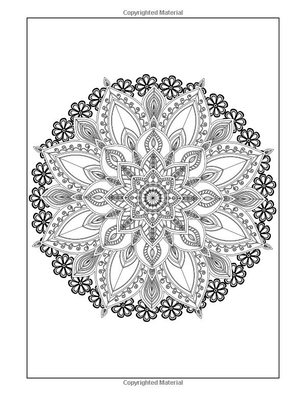 Amazon.com: Coloring Books for Grown-Ups: Flowers Mandala ...