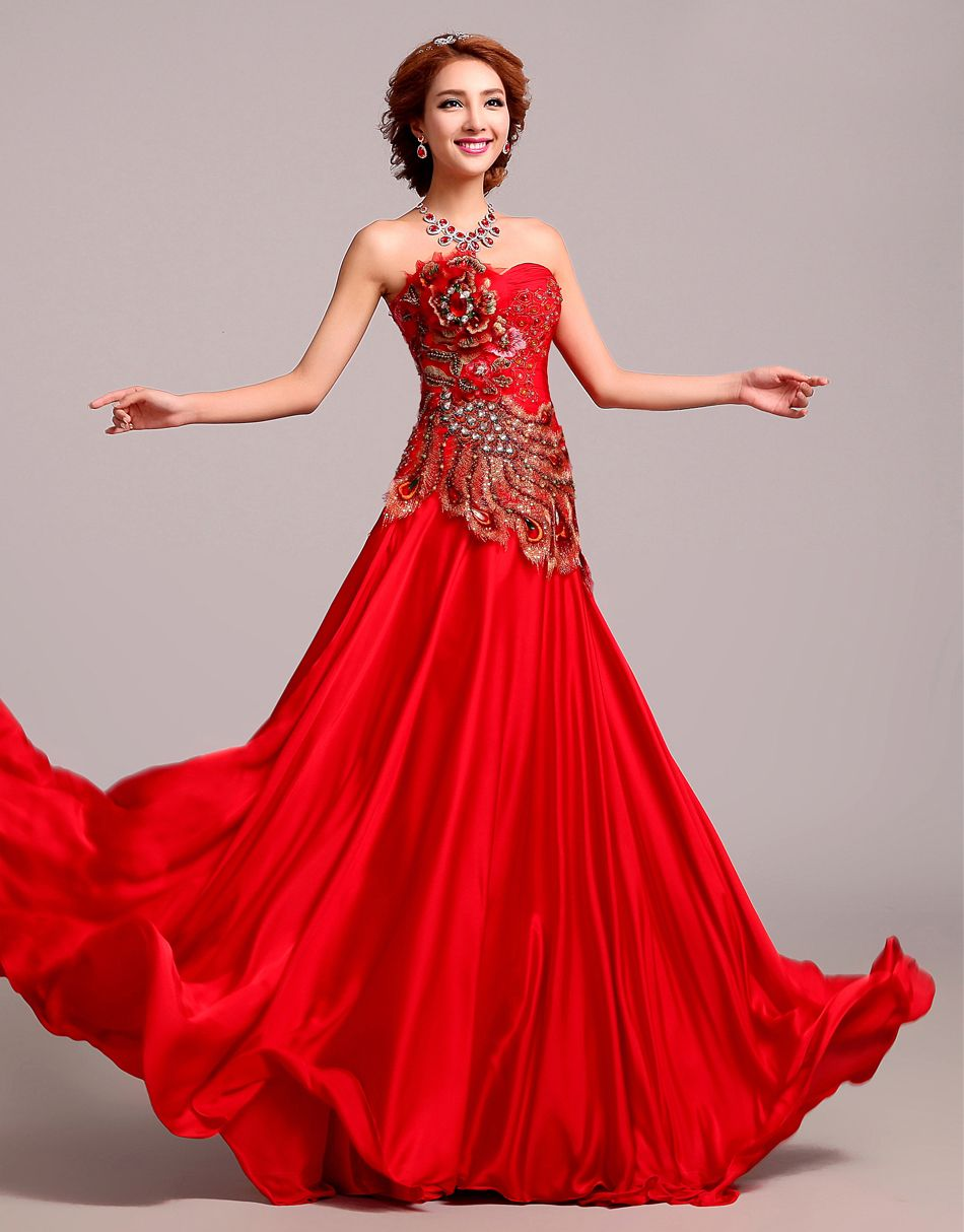 60+ Beautiful Red Wedding Dress Inspiration | Womens ...