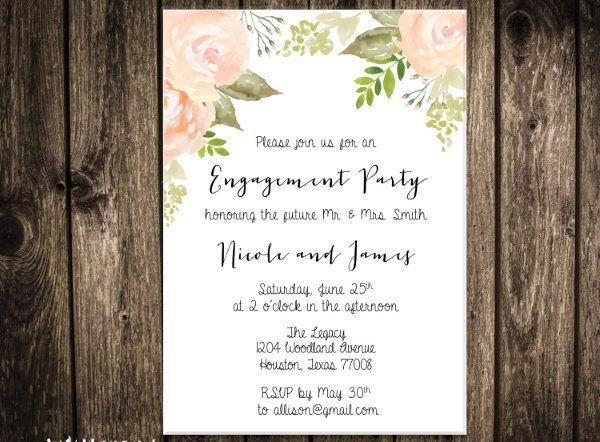 Engagement Invite Templates Simple 10 Engagement Invitation Templates  Free Printable Pdf Formats .