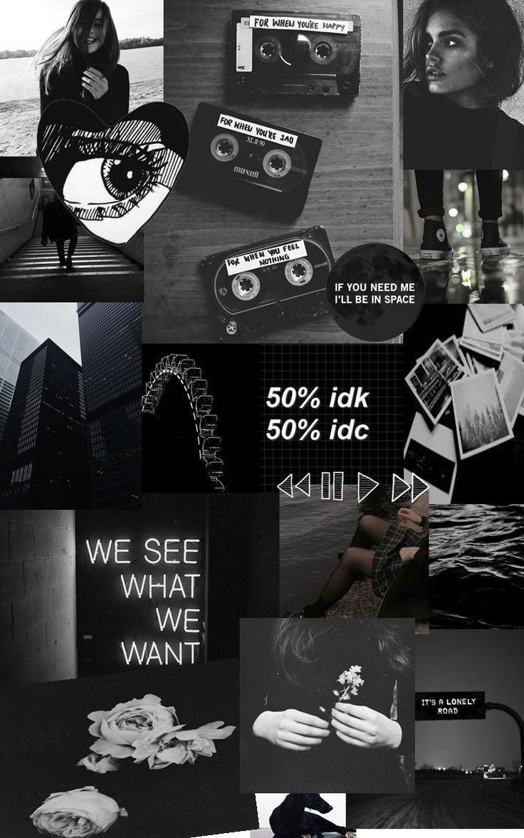 Pin By Miftahul On Colors Aesthetic Wallpapers Aesthetic Collage Black Aesthetic Wallpaper