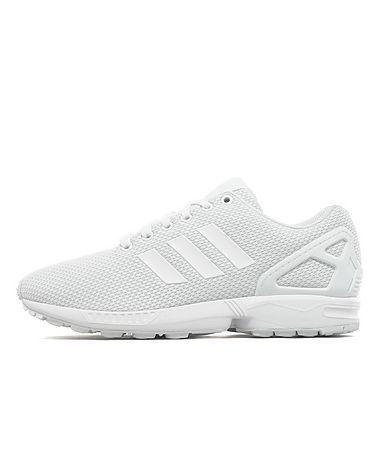 classic fit 71fd5 6a1e8 All white Adidas Originals ZX Flux | Shoes | Adidas, Adidas ...