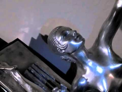 Art Deco Bronze Diana The Hunter Statue by Bourraine   VIDEO