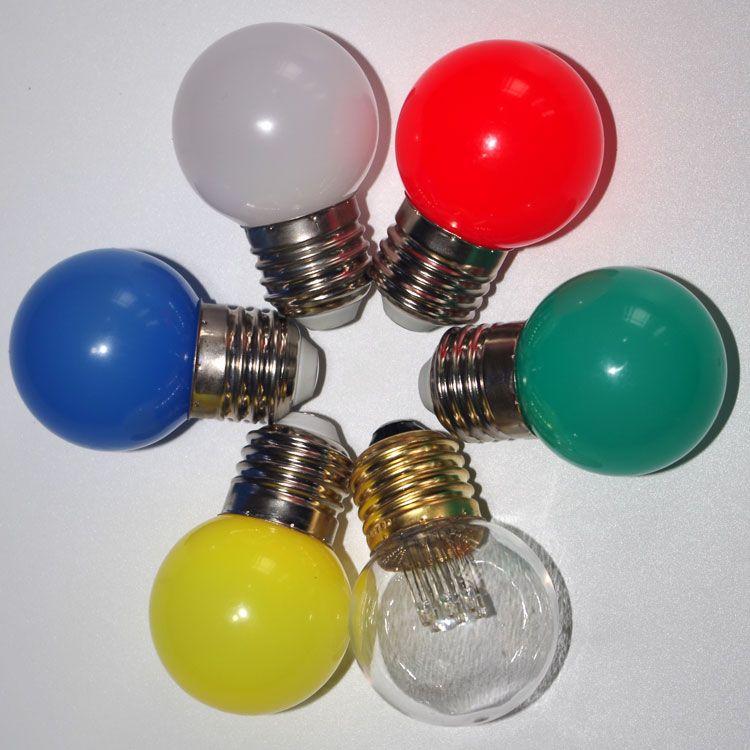 Xmas Decoration Waterproof Plastic 24v 230v 1w G45 Led Ball Lights