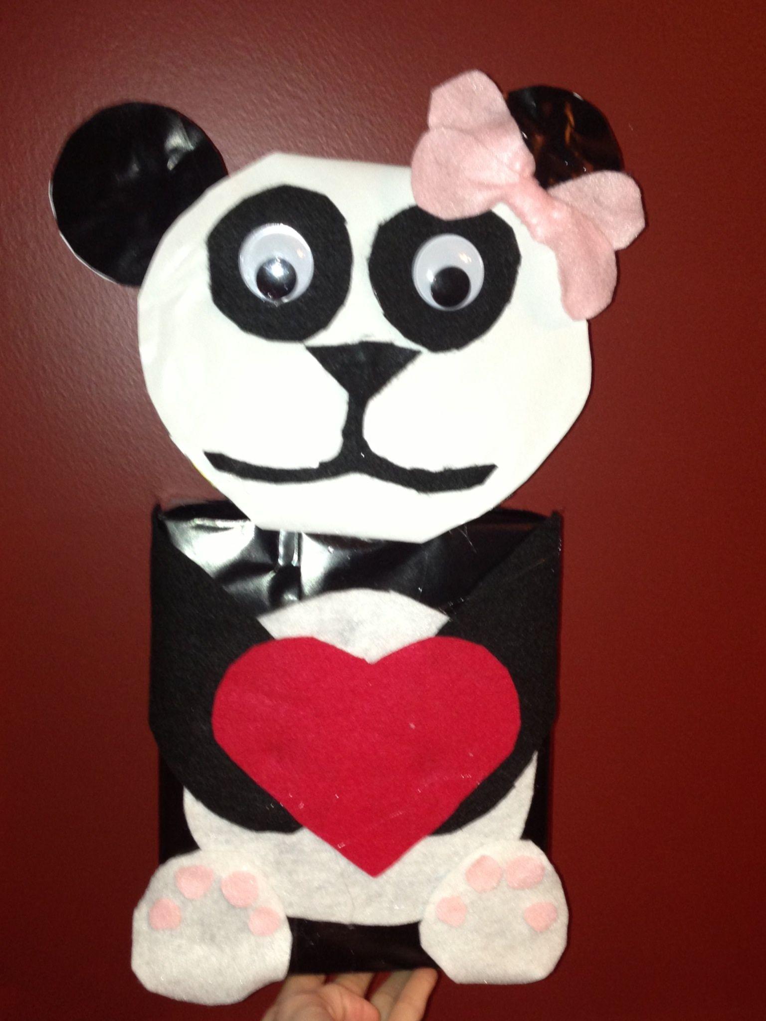 Autumnu0027s Panda Bear Valentine Box