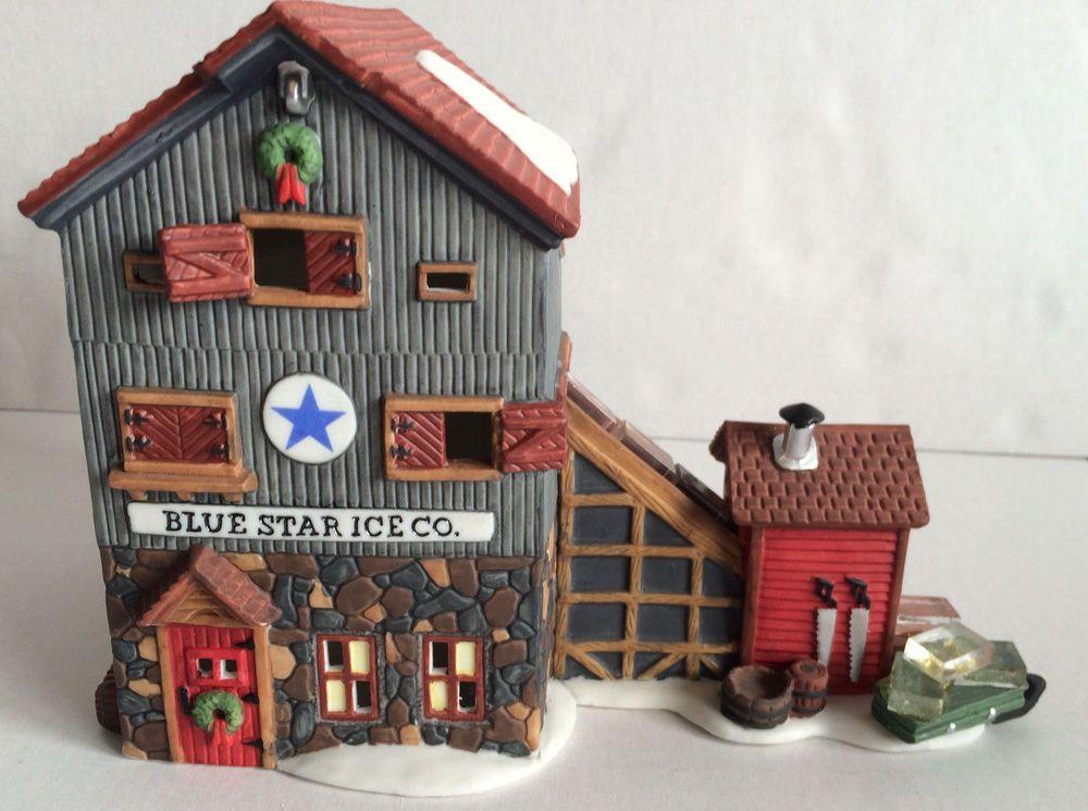 Dept 56 New England Village Series, Blue Star Ice Company, MIB
