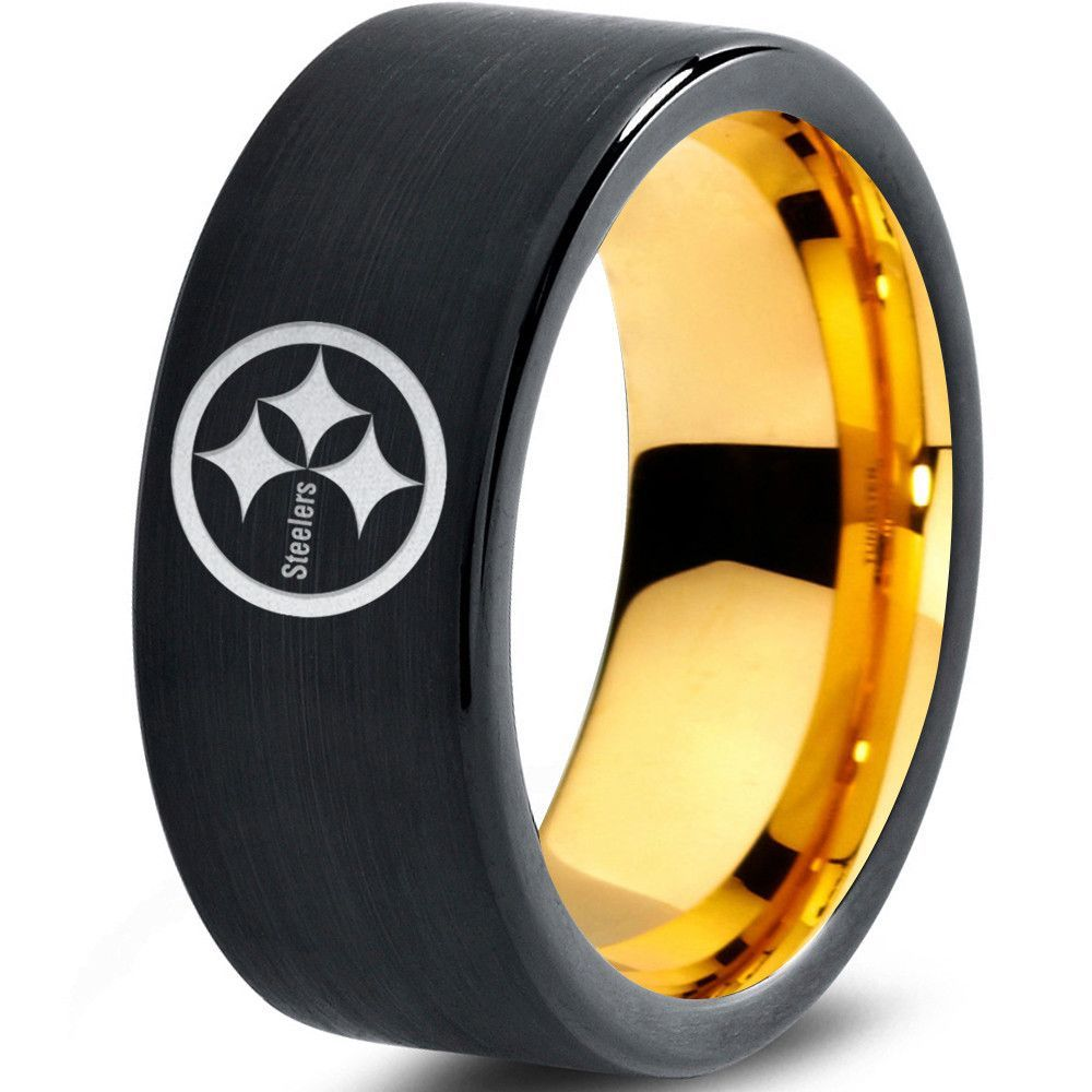 Support Your Team With This Tungsten Carbide Pittsburgh Steelers Inspired  Ring! ☆fort Fit ☆