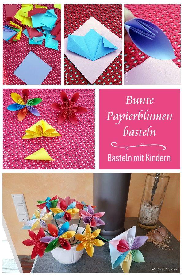 Photo of Papierblumen basteln