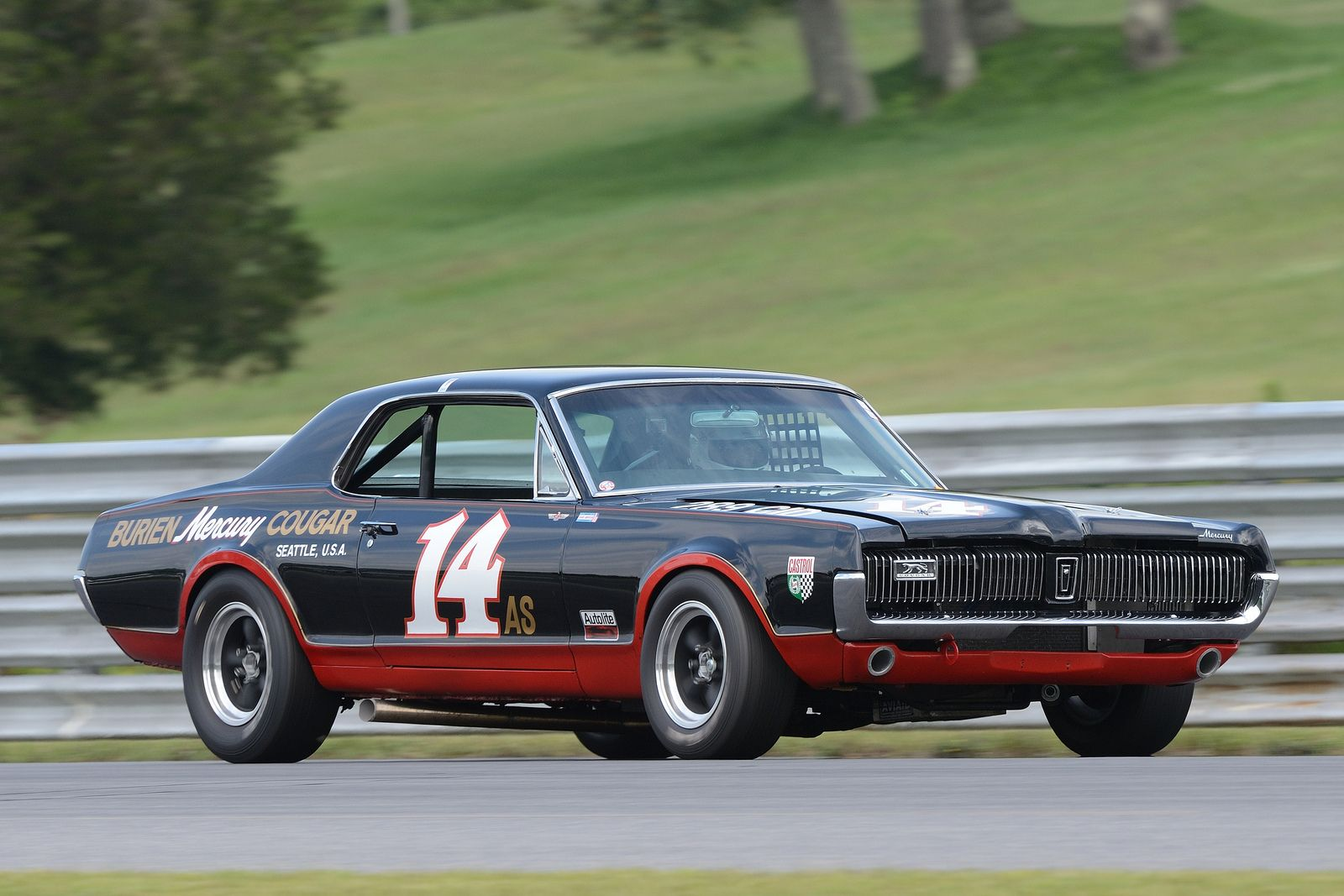 Number 14 1967 mercury cougar driven by ike keeler flickr photo sharing