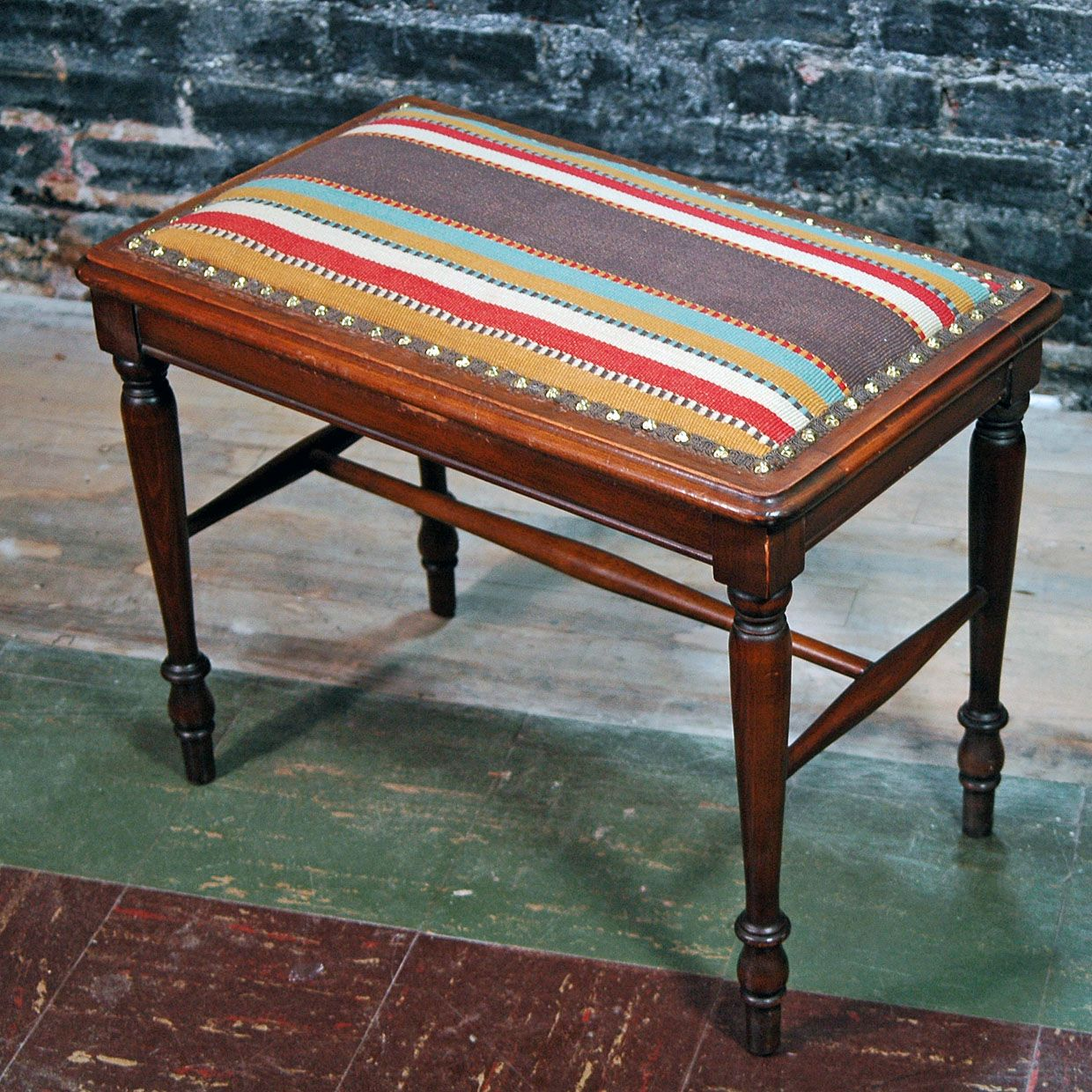 Reupholstered Piano Bench With Images Piano Bench Redo Furniture Cool Furniture