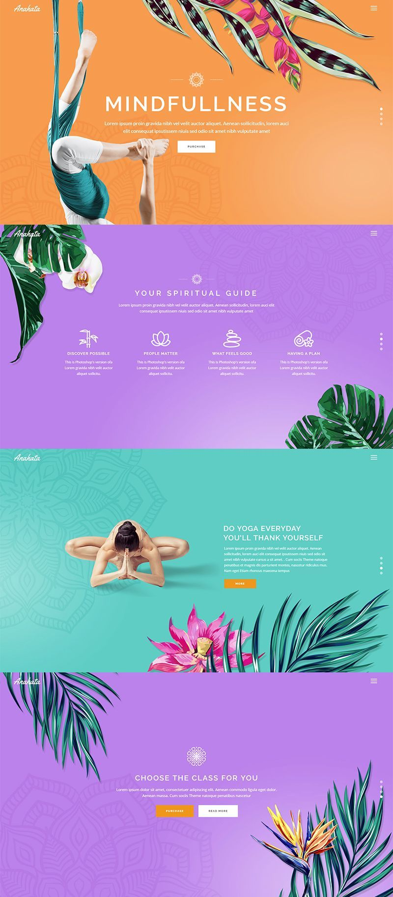 Make your yoga website fun and interactive with this slider showcase feature.     #wordpress #webdes...