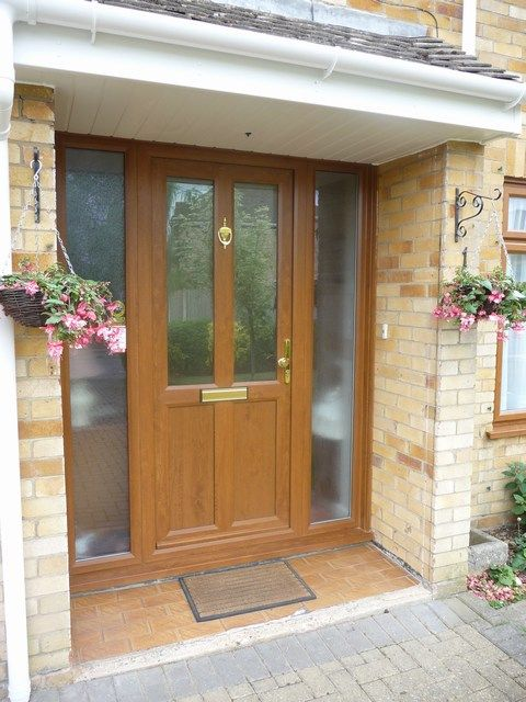 Oak porch with obscured glass google search exterior for Double glazed porch doors