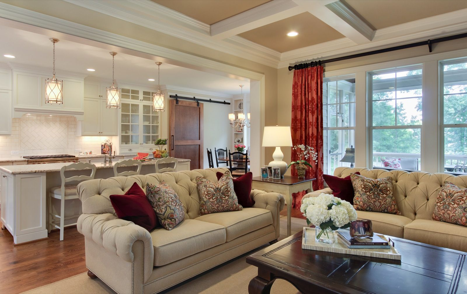 Sophisticated farmhouse southern studio interior design southern