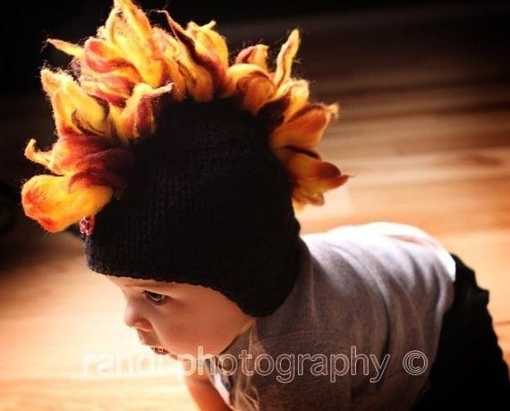 Baby Hat Mohawk Hat Newborn Photo Prop Knit Newborn Hat Knit