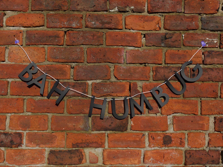 BAH HUMBUG Scrooge Letter Banner