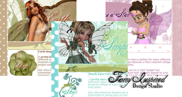 Fairies And Fantasy Art By Emma Marlow Free Girly Web Designs Girly Web Design Web Design Web Template Design