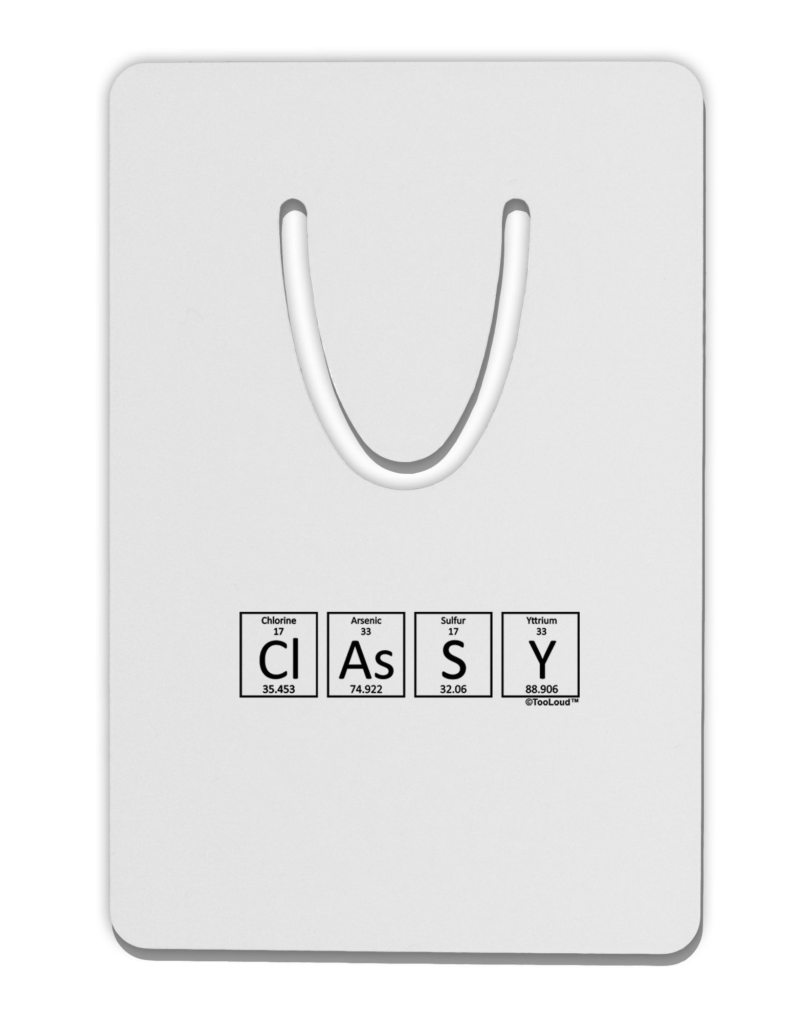 Classy Periodic Table Of Elements Aluminum Paper Clip Bookmark By