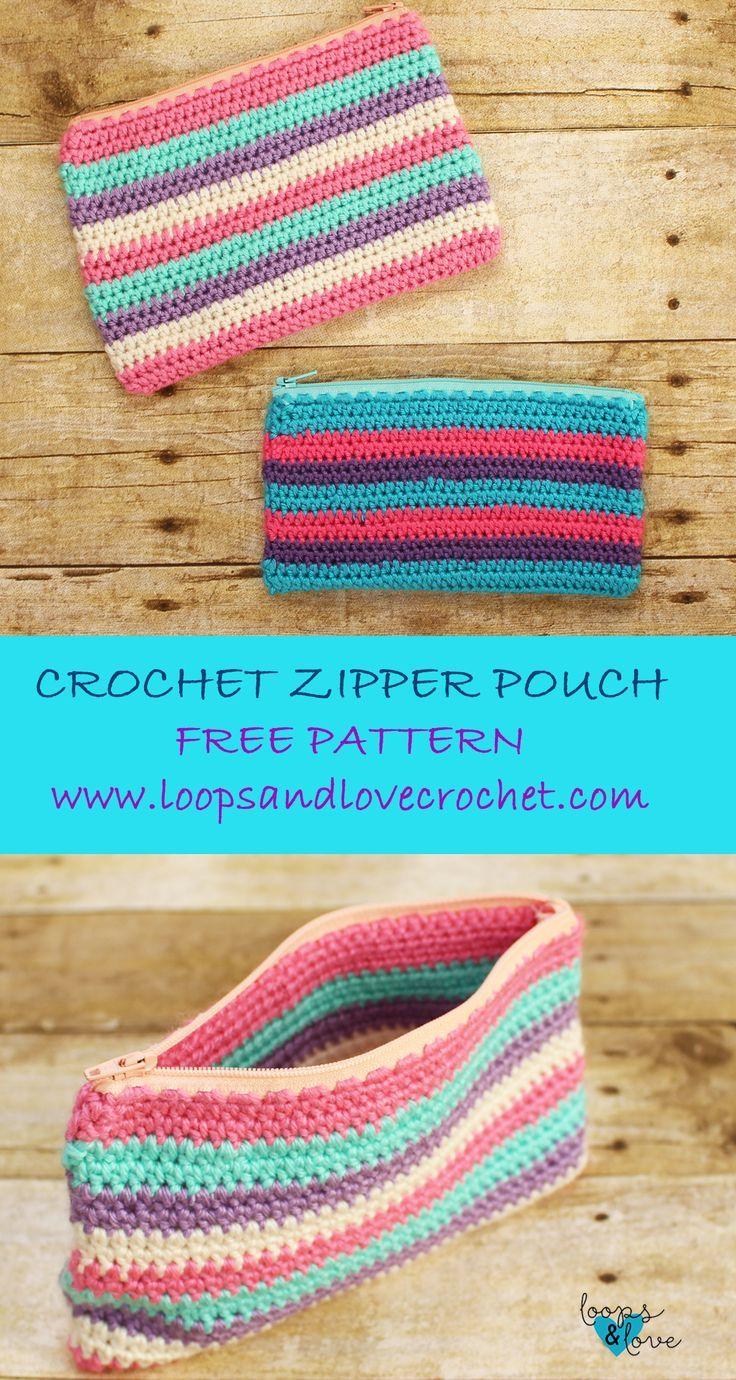 Photo of Crochet Zipper Pouch Loops & Love Crochet