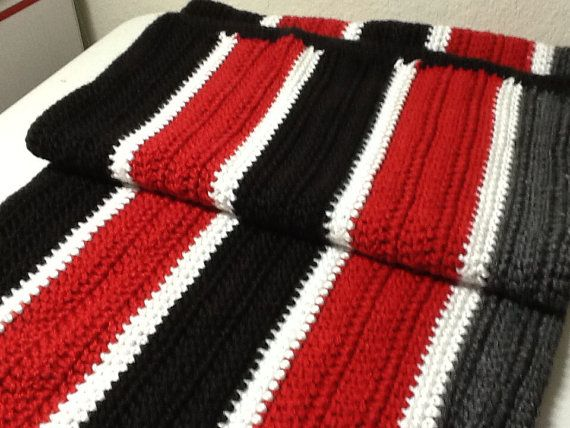 Afghan Red Black Grey And White Crochet Handmade Lap Afghan Crochet Blanket Red Crochet Blanket Black Afghan