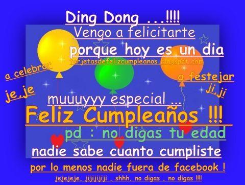 tarjetas de cumpleaños divertidas para facebook | felicitaciones ...