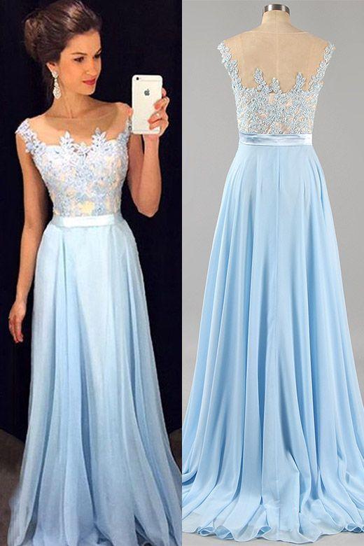 Pale blue dress for wedding