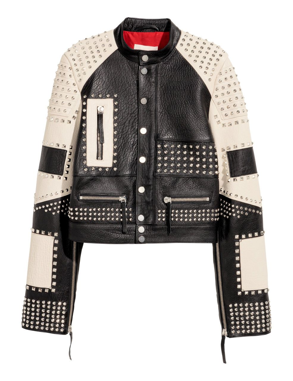 f750c80bb Check this out! PREMIUM QUALITY. Short leather jacket with studs and ...