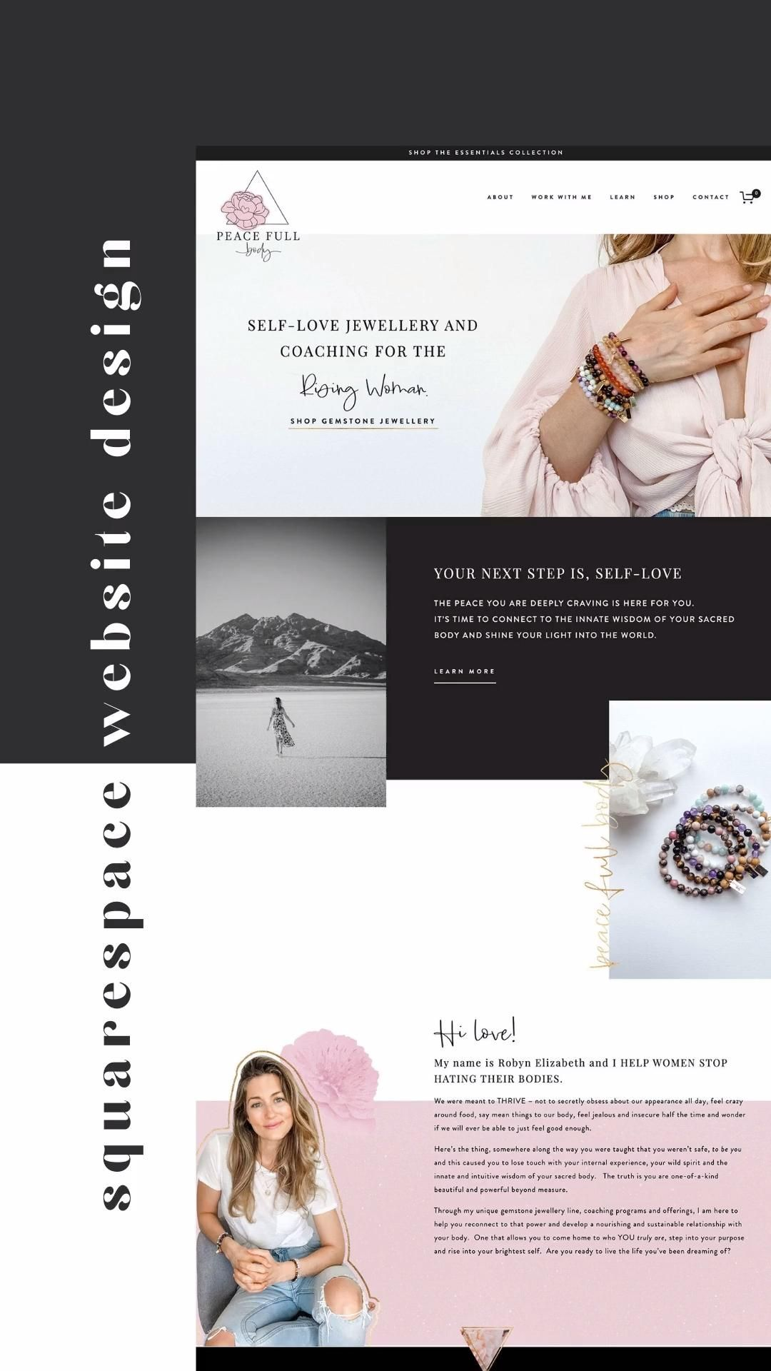 Fresh and Fun All-Inclusive Brand and Web Design for a Self-Love Jewellery