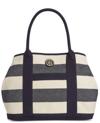 281fb3e9a4e Tommy Hilfiger TH Rugby Stripe Shopper   Arm Candy   Handbag ...