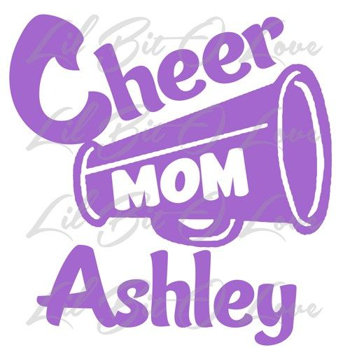 Custom Cheer Mom Megaphone Vinyl Decal Sticker With Cheerleader Name | LilBitOLove - Housewares on ArtFire