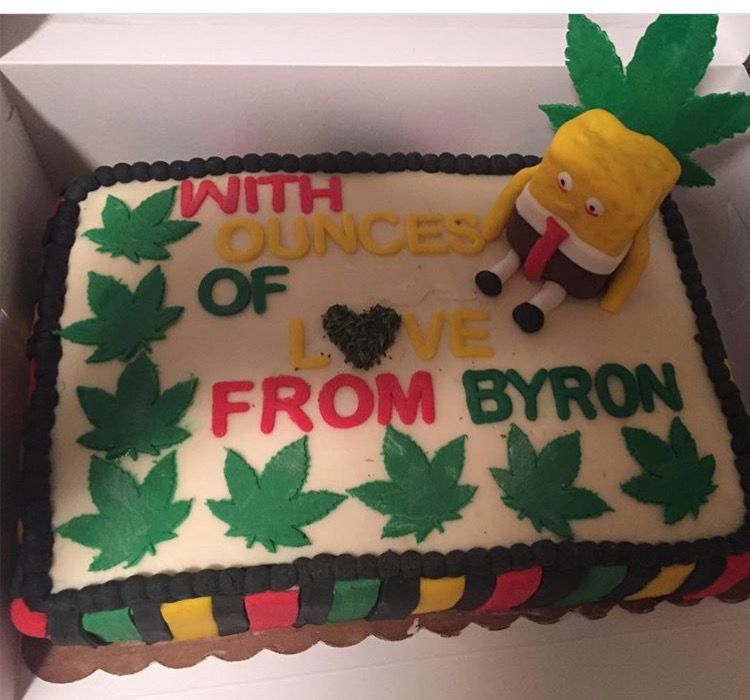 Weed (stoner) Birthday Cake | Cake designs | Birthday cake, Cake ...