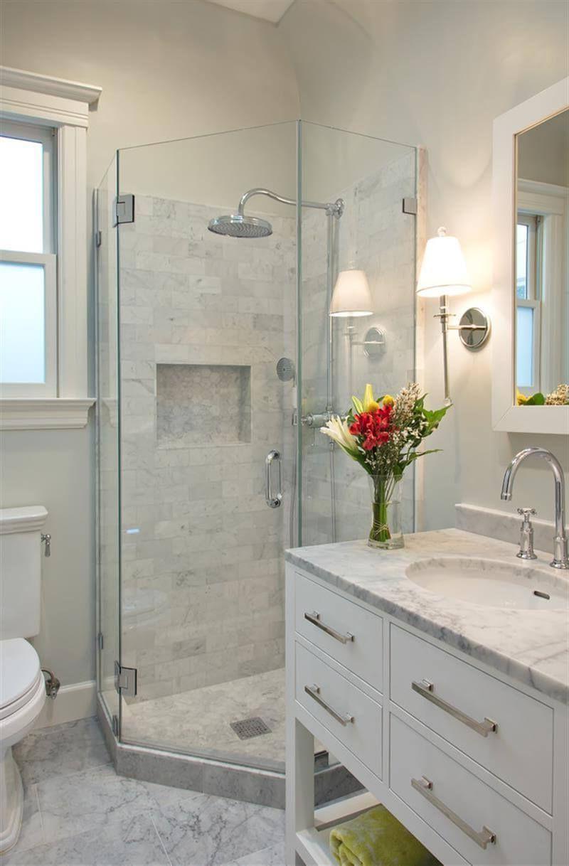 Calming White Marble Small Bathroom Design Ruth Pinterest Inside How To Design A Small Bathroom Howtodesignasmallbathr Litet Badrum Renovering Badrum Badrum