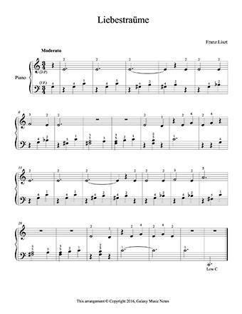liszt liebestraum sheet music pdf