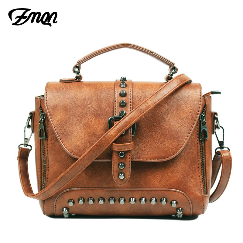 f7ea63d65d ZMQN Crossbody Bags For Women Messenger Bags 2018 Vintage Leather Bags  Handbags Women Famous Brand Rivet Small Shoulder Sac  19.58