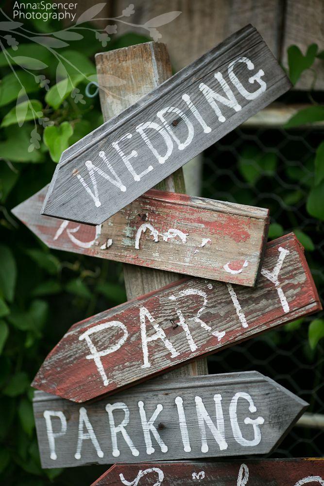 Anna and Spencer Photography, Atlanta Wedding Photographers. Rustic Wedding Direction Sign.