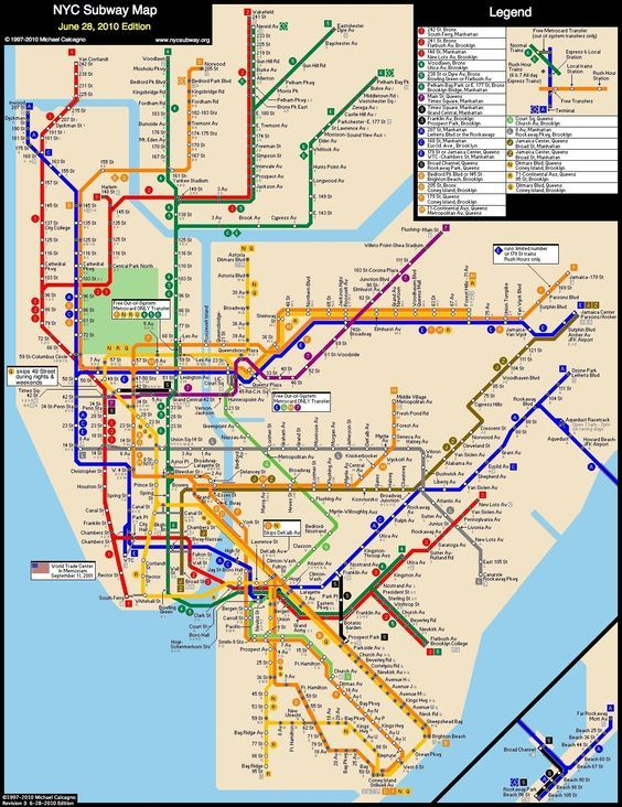 Subway Map Train.Nyc Subway Map From Liberty Harbor Rv To Columbia Stadium Grove St