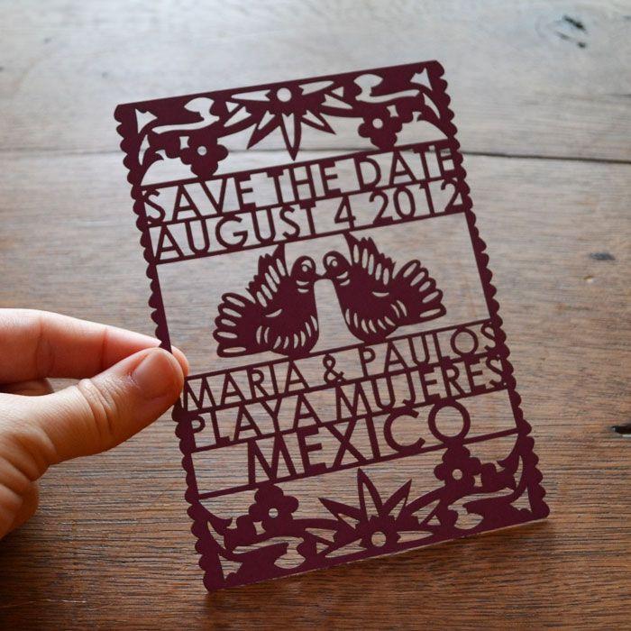 papel picado wedding invitations from avie designs - Papel Picado Wedding Invitations