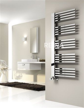 reina dexi designer chrome heated towel rail bathroom - Designer Heated Towel Rails For Bathrooms