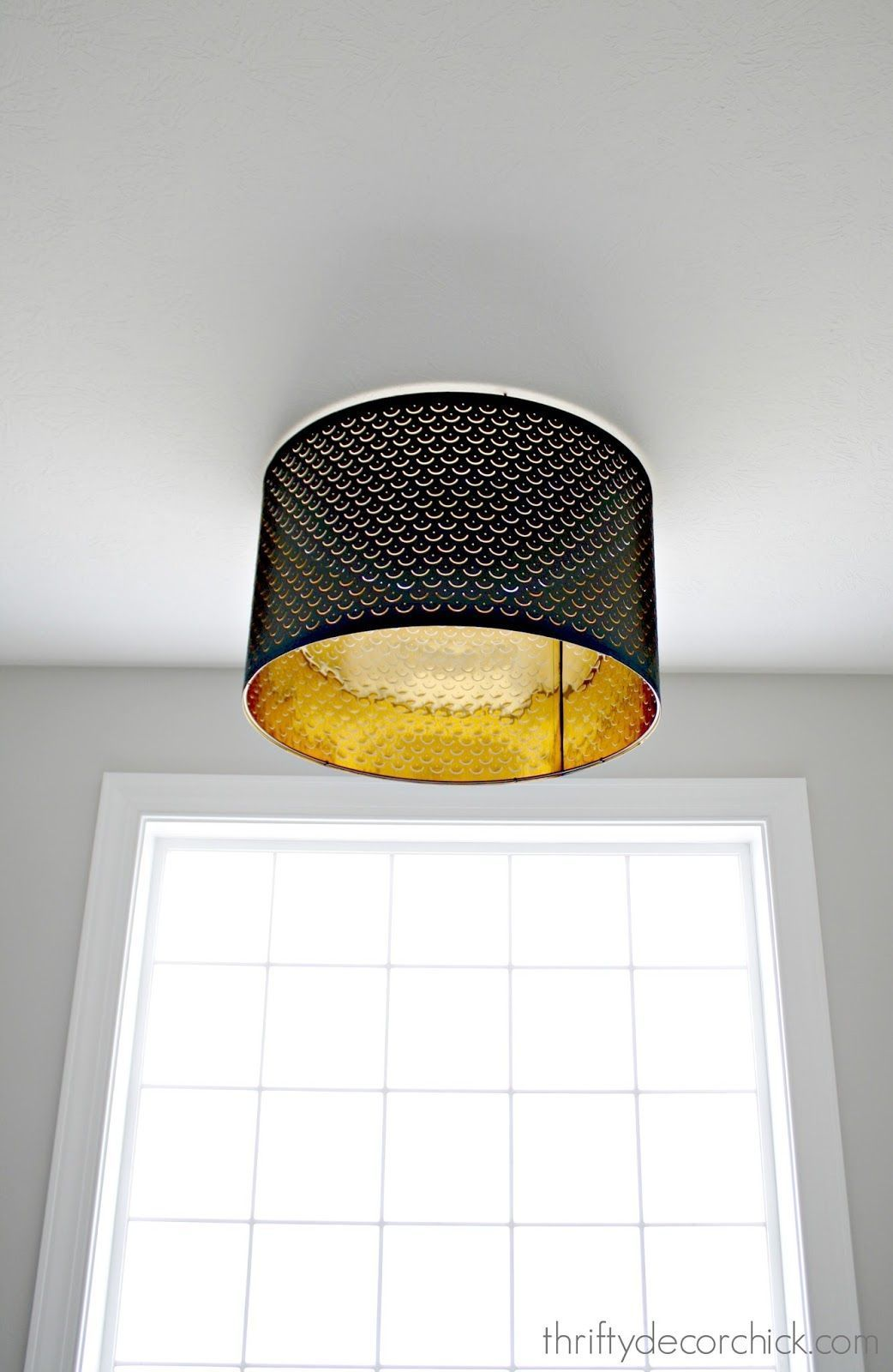 Using a lamp shade as a light fixture Lampshades Pinterest