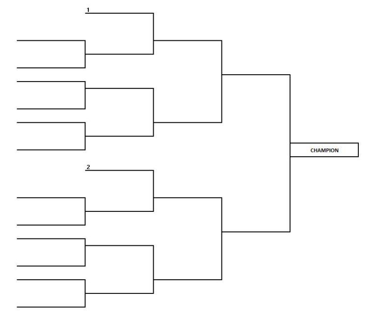 Printable 16 Team Bracket Single Elimination Tournament Printable Brackets Tournament Of Books Bracket Challenge